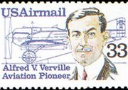 United States Airmail Stamps - 1983 - 1989 - 33¢ Alfred Verville (1985)