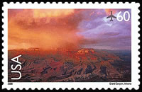 United States Airmail Stamps - 1999 - 2012 Scenic American Landscapes - 60¢ Grand Canyon (2000)