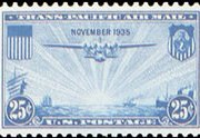 United States Airmail Stamps - 1935 Trans-Pacific Issue - China Clipper - 25¢ blue