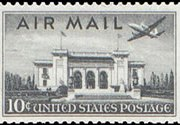 United States Airmail Stamps - 1947 - 10¢ Pan American Bldg