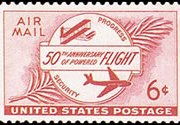 United States Airmail Stamps - 1953 - 6¢ Powered Flight