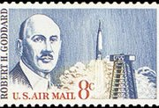 United States Airmail Stamps - 1963 -1964 - 8¢ R.H. Goddard
