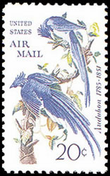 "United States Airmail Stamps - 1967 - 20¢ ""Columbia Jays&quote;"