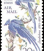 """United States Airmail Stamps - 1967 - 20¢ """"Columbia Jays&quote;"""