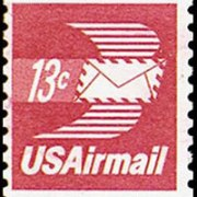 United States Airmail Stamps - 1971 - 1973 - 13¢ Letter (1973)