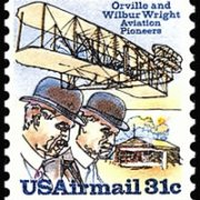 United States Airmail Stamps - 1978 - 31¢ Wright Bros. & Shed.