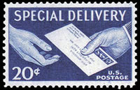 United States Special Delivery Stamps - 1954 - 1971 - 20¢ blue