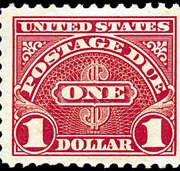 United States Postage Due Stamps - 1930 - 1931 Perf 11 - $1 scarlet