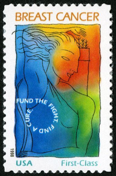 postage stamp breast cancer awareness