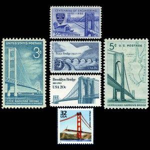 Historic Bridges on US Stamps