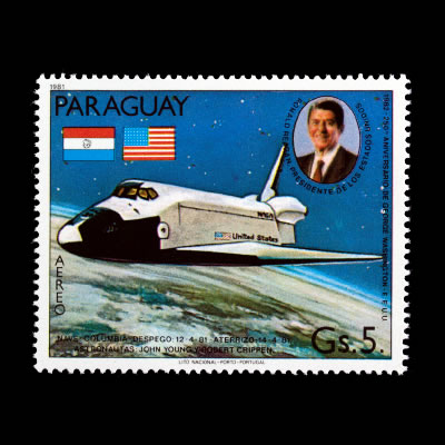 1981 Paraguay C488 Airmail Stamp - Space Shuttle Columbia