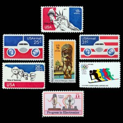 U.S. Airmail Postage Stamp Set