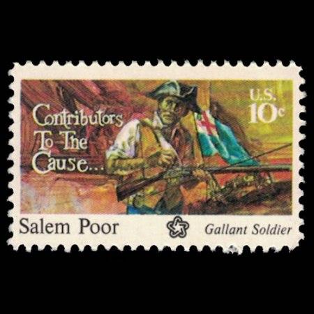 U.S. #1560 - Salem Poor 10 Cent Stamp.
