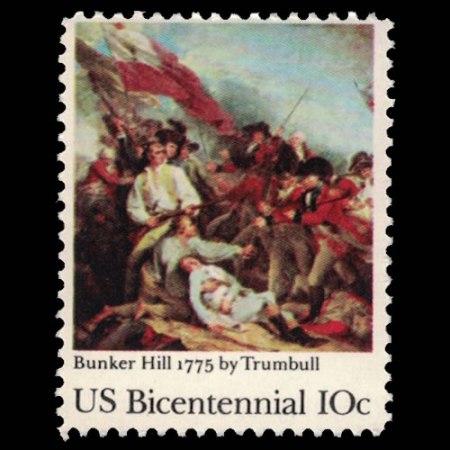 U.S. #1564 - Bunker Hill 10 Cent Stamp.