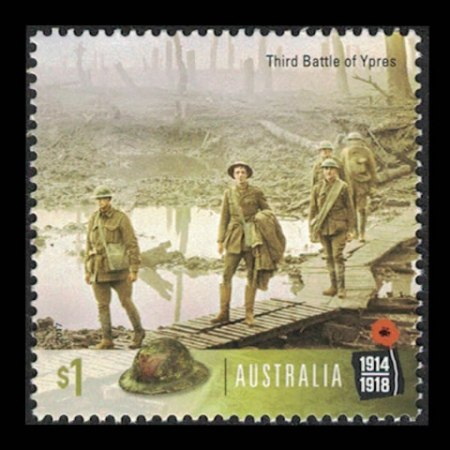 2017 Australia $1 Collectible Stamp - Third Battle of Ypres