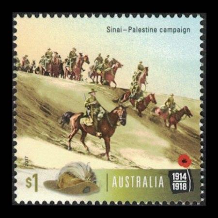 2017 Australia $1 Collectible Stamp - Sinai-Palestine Campaign