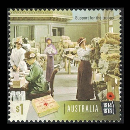 2017 Australia $1 Collectible Stamp - Support for the Troops
