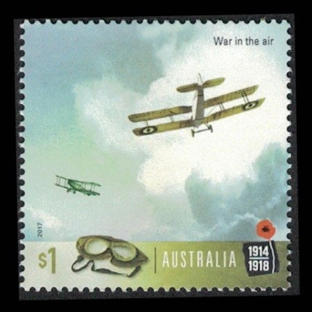 2017 Australia $1 Collectible Stamp - War in the Air