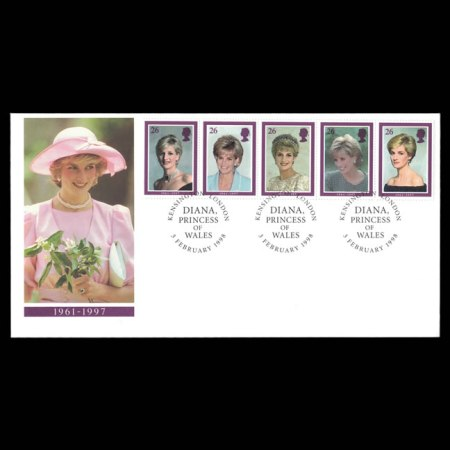 1997 Great Britain Princess Diana First Day Cove