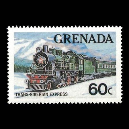Grenada #1121 - Trans-Siberian Express Stamp