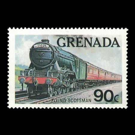 Grenada #1123 - 90 cent Flying Scotsman Train Stamp
