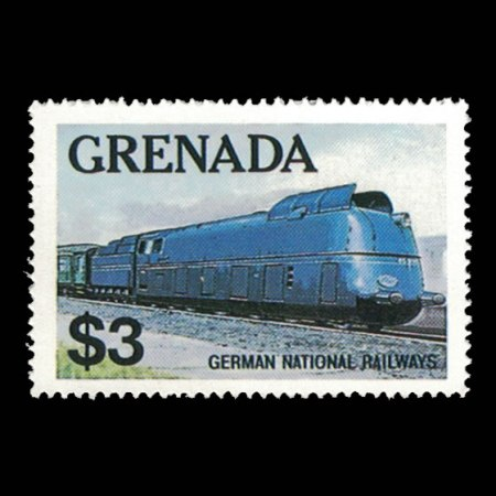 Grenada #1125 $3 German National Railways Stamp