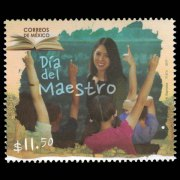 Mexican $11.50 Collectible Stamp honoring Teacher's Day