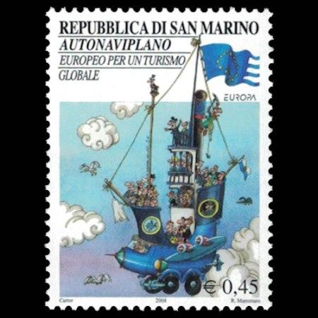 2004 San Marino Stamp #1604 - .45 Euro Fantasy Vehicles.