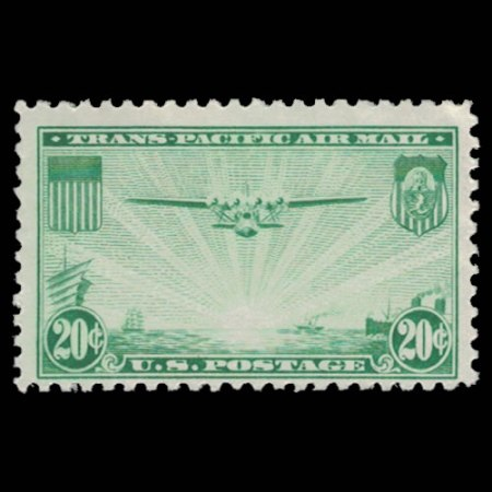 1937 US C21 Trans-Pacific Airmail Stamp