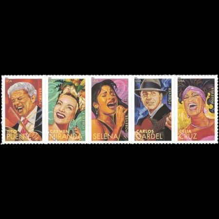 2011 U.S. Latin Music Legends Stamp Strip of 5
