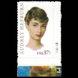 2003 U.S. Stamp #3786 - 37 cent Audrey Hepburn