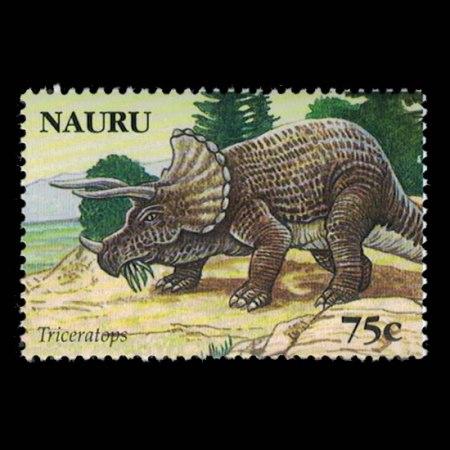 2006 Nauru Stamp #559 - 75 cent Triceratops