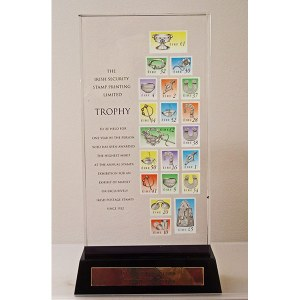 Irish Security Stamp Printing Trophy (Irish Stamps issued since 1922)