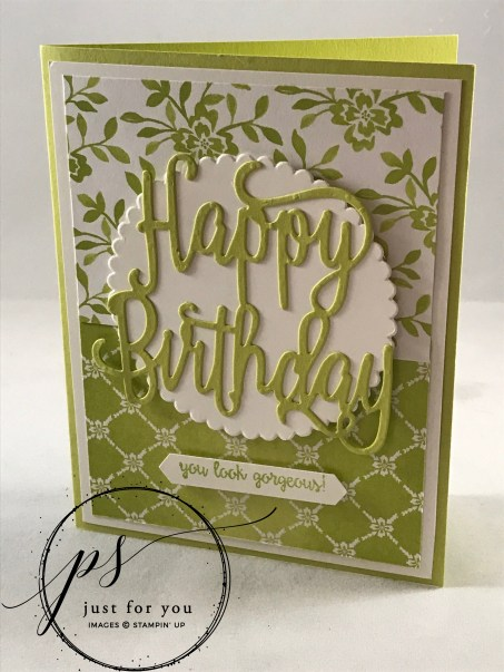 StampinUp Happy Birthday Gorgeous, Lemon Lime Twist, Fresh Florals Designer Paper Stack ,#StampAfterSunrise, DYI cards, paper crafts