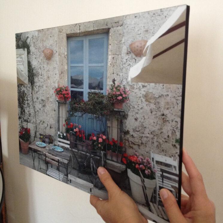 pannello foto quadro pvc sandwich stampato con bordatura nera
