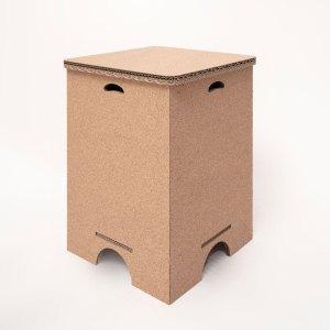 Cubo Contenitore Piccolo in Cartone