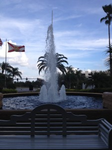Rosen Plaza - front fountain