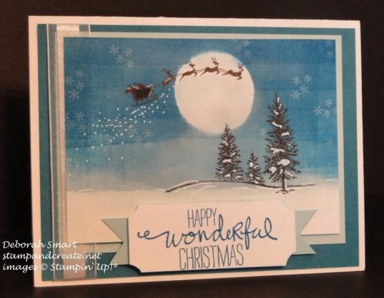 happy scenes santa sleigh