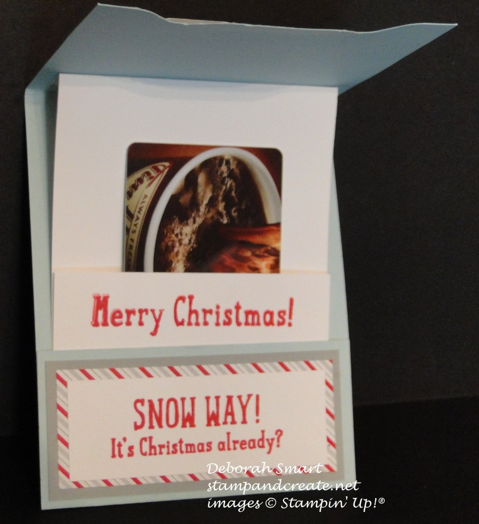 snow place gift card holder inside