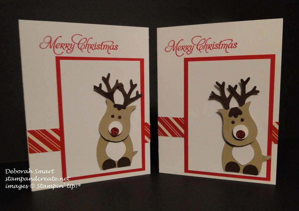 reindeer punch art card