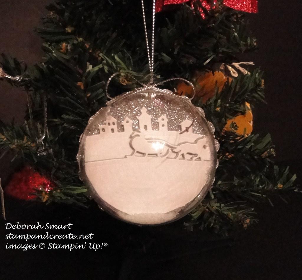 sleigh ride edgelits ornament