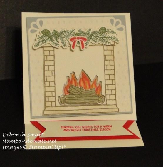 Festive Fireplace Easel