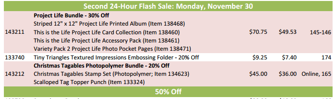 SU flash sale nov 30
