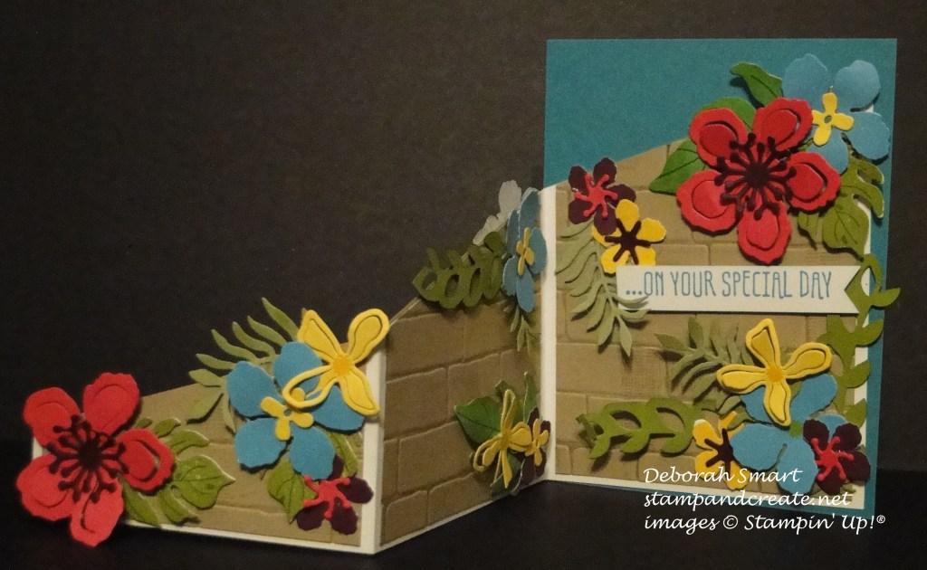 WWC52 botanical blooms open z fold