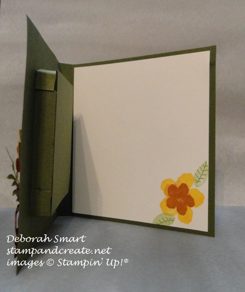 shadow box, inside view