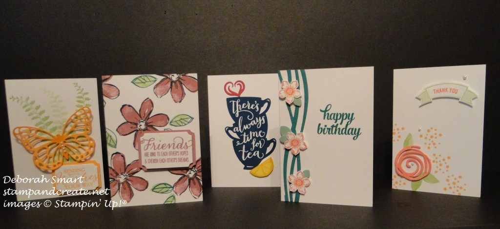 in colours ink pad class cards