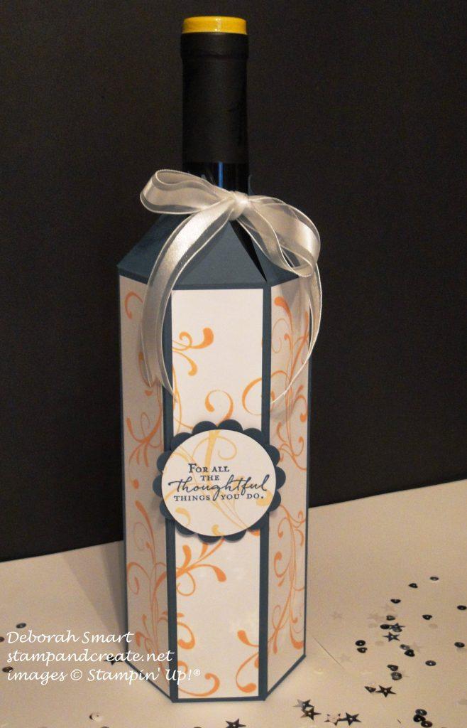 blogging friends wine bottle wrap