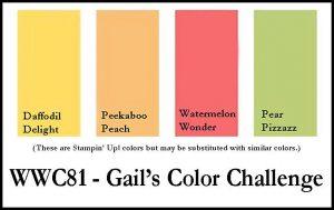 WWC81 Gail's colour challenge