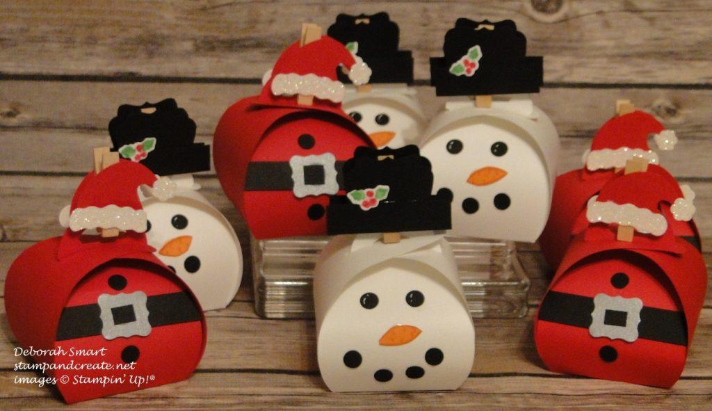 santa & snowman curvy keepsake boxes
