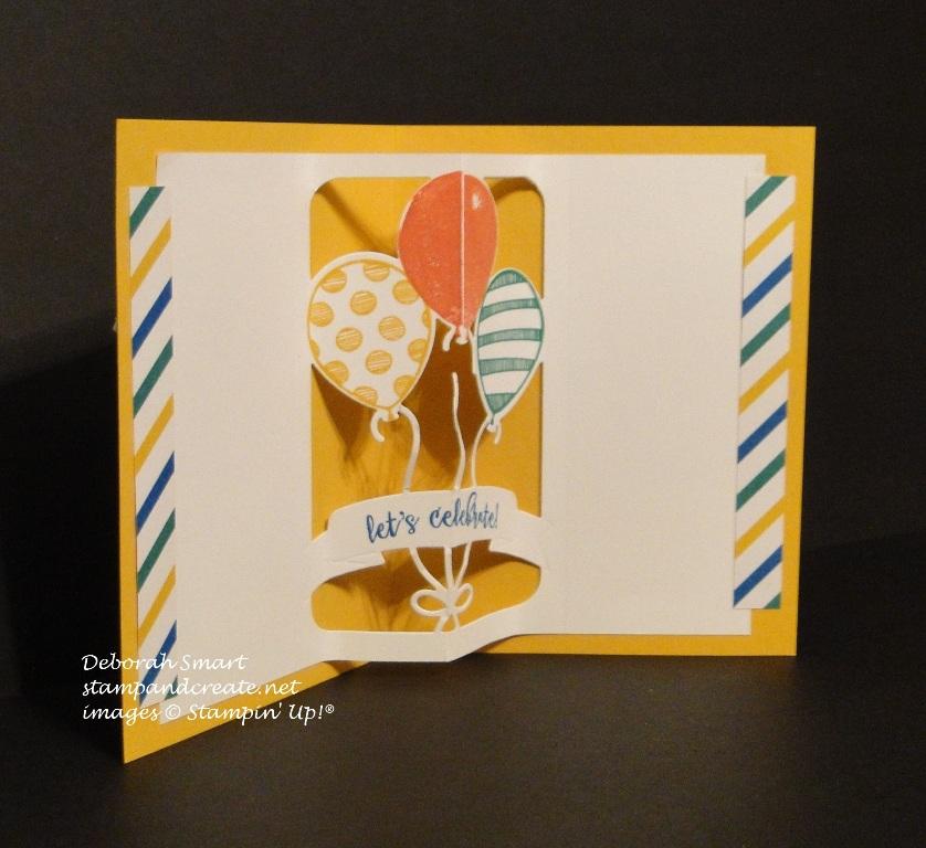 Birthday Card using the Balloon Pop Up Thinlits